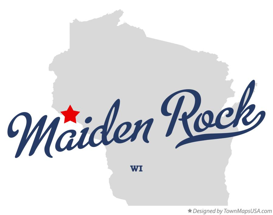 Map of Maiden Rock Wisconsin WI