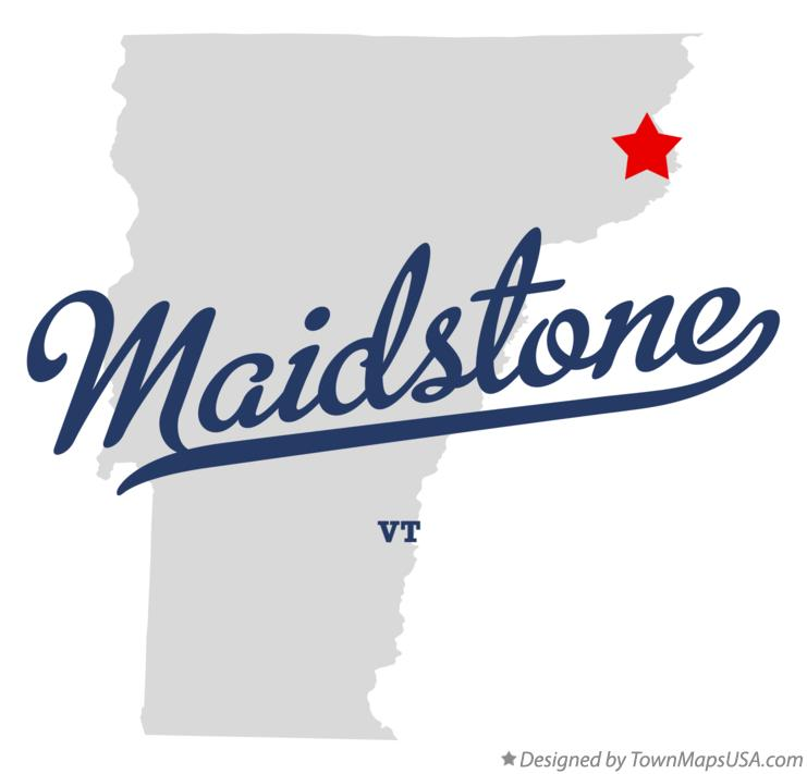 Map of Maidstone Vermont VT