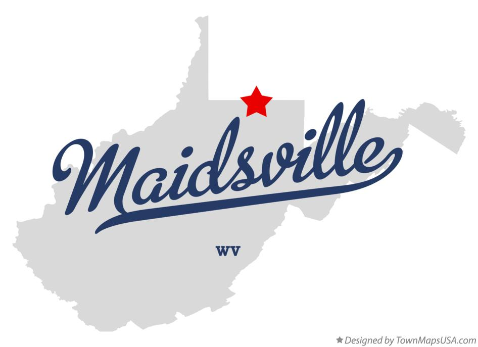 Map of Maidsville West Virginia WV
