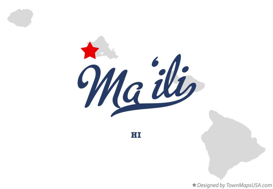 Map of Mā'ili Hawaii HI