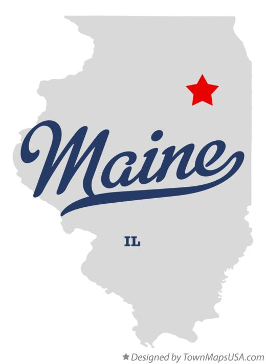 Map of Maine Illinois IL