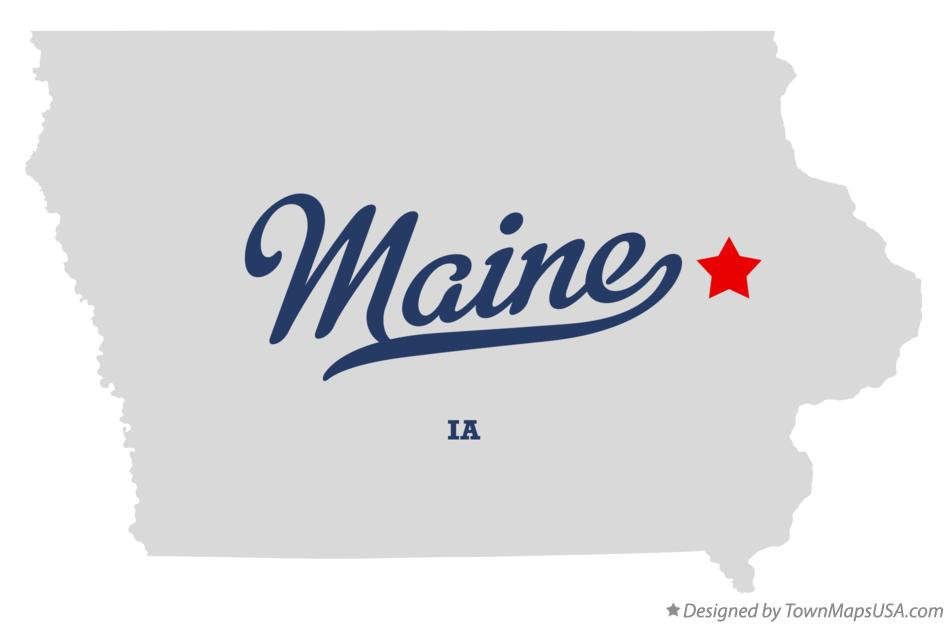 Map of Maine Iowa IA