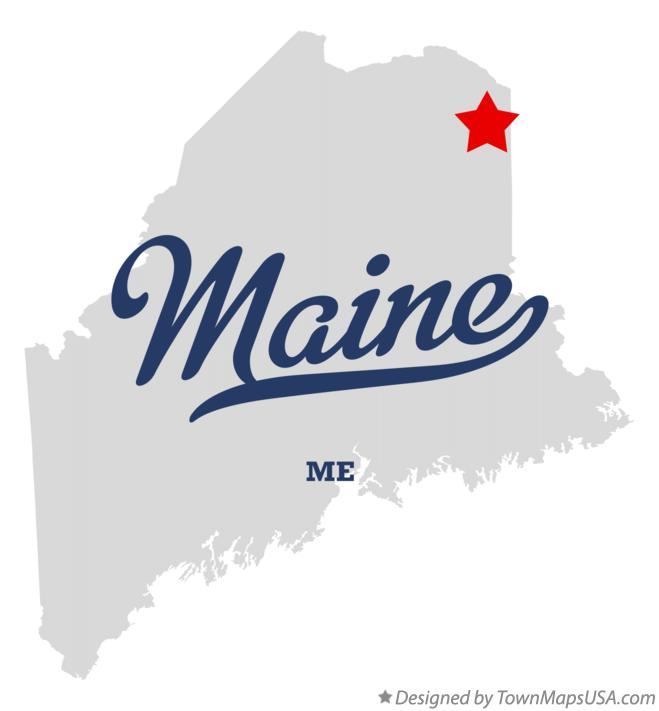 Map of Maine Maine ME
