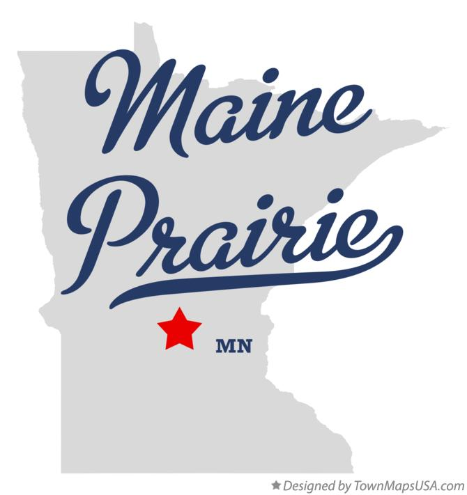 Map of Maine Prairie Minnesota MN