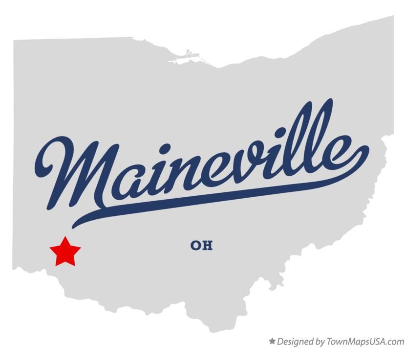 Map of Maineville Ohio OH