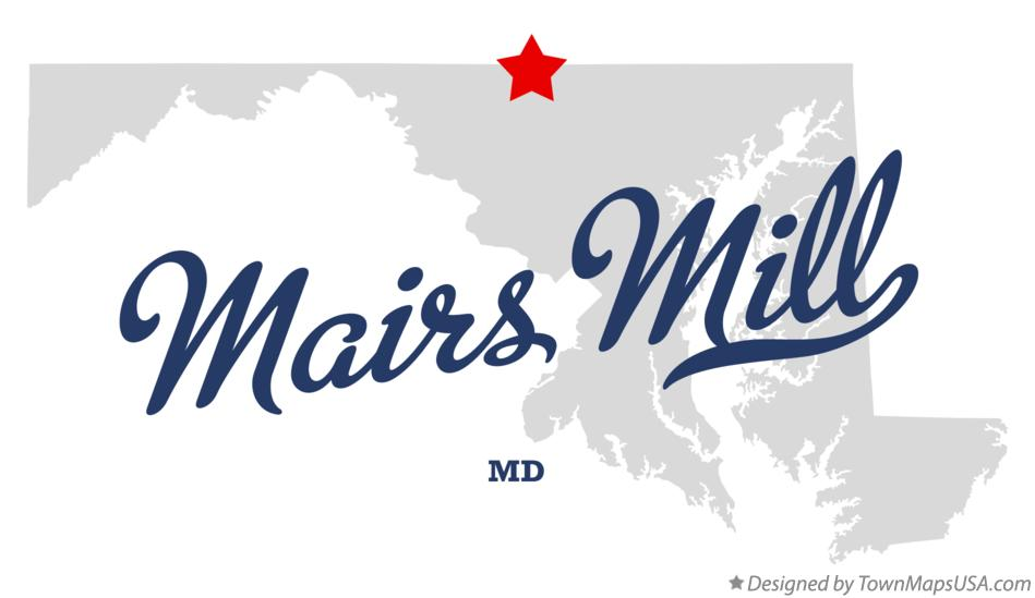 Map of Mairs Mill Maryland MD