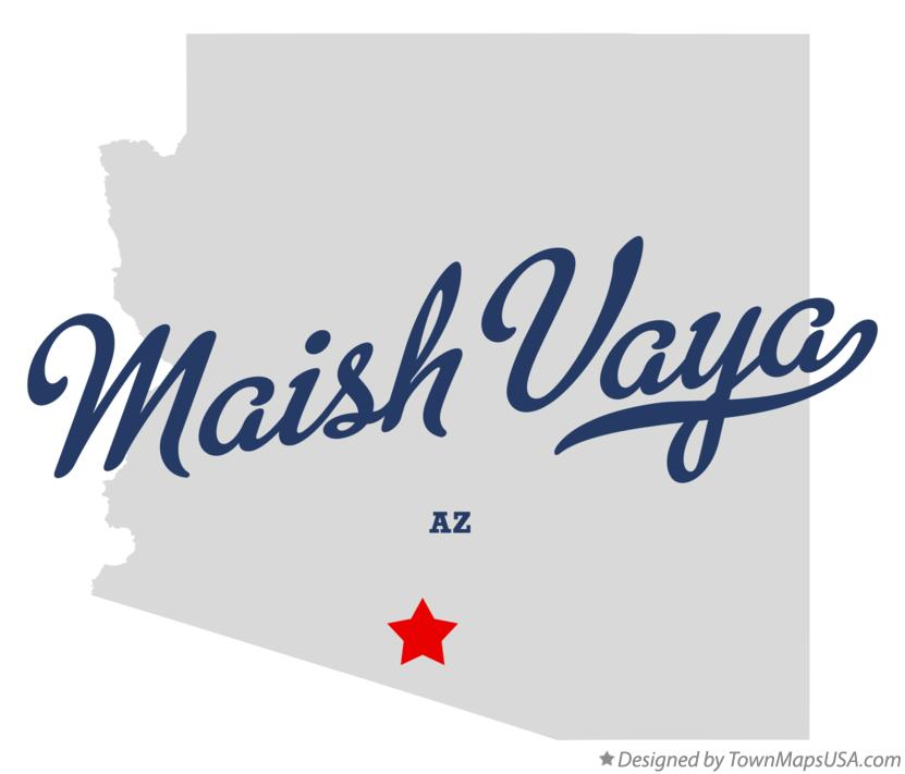 Map of Maish Vaya Arizona AZ