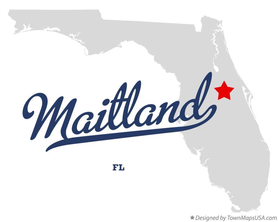 Maitland Florida Map.Map Of Maitland Fl Florida