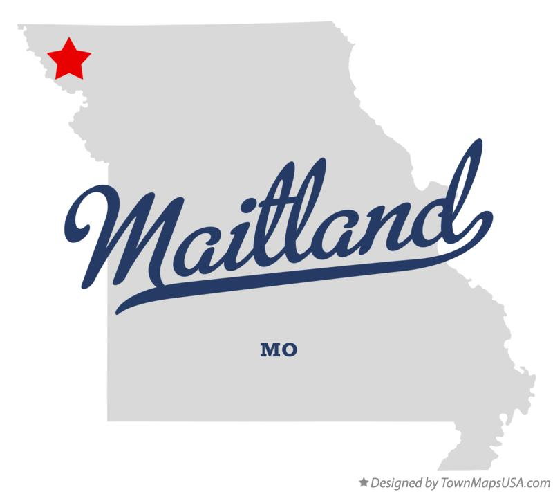 Map of Maitland Missouri MO