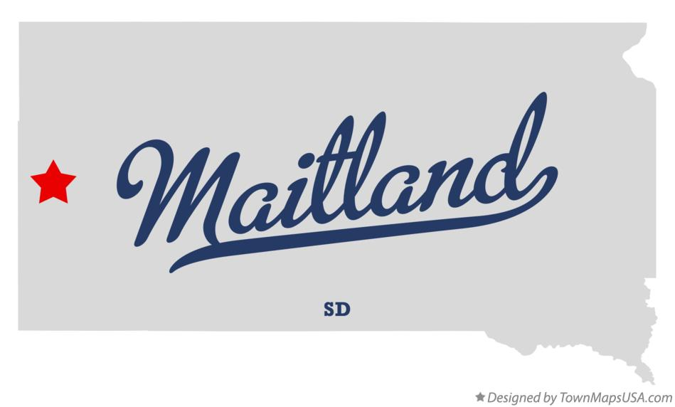 Map of Maitland South Dakota SD