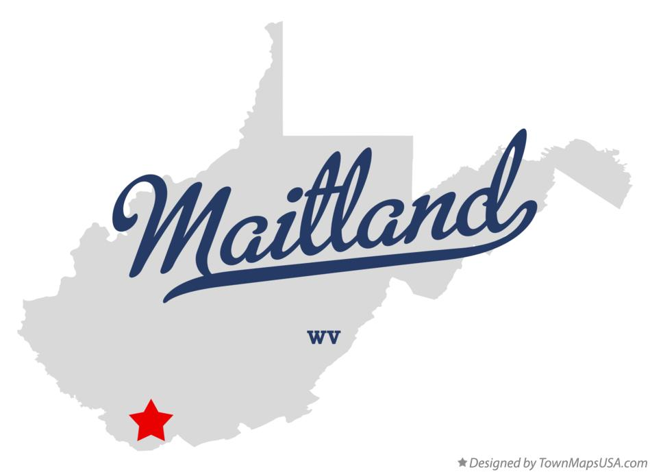 Map of Maitland West Virginia WV