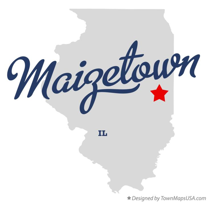 Map of Maizetown Illinois IL