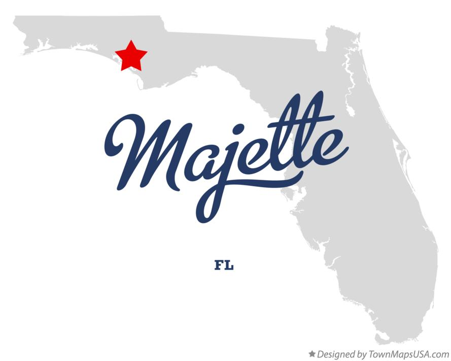 Map of Majette Florida FL