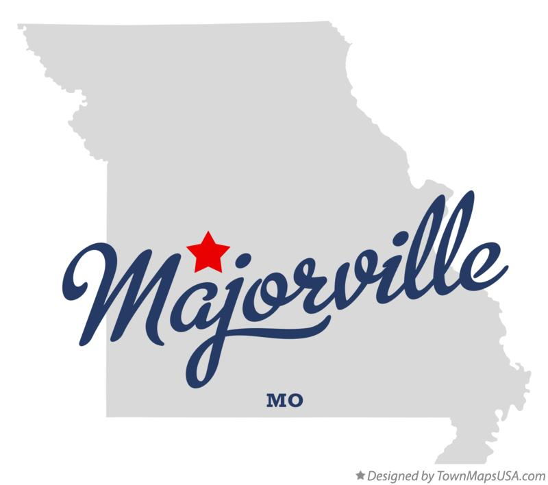 Map of Majorville Missouri MO