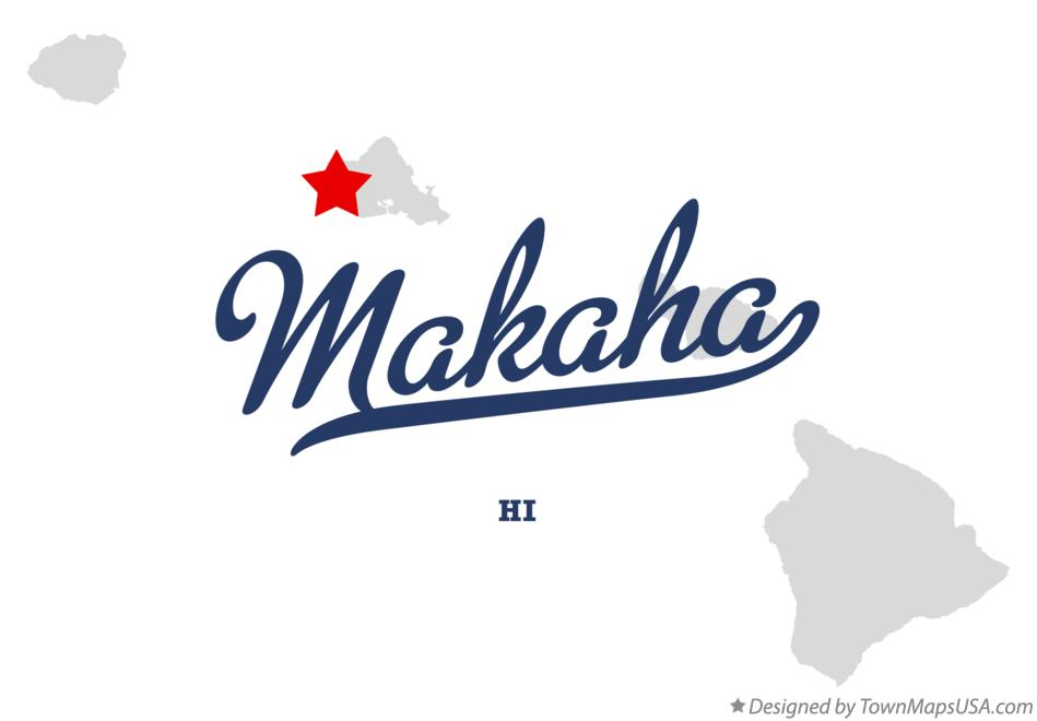 Map of Mākaha Hawaii HI