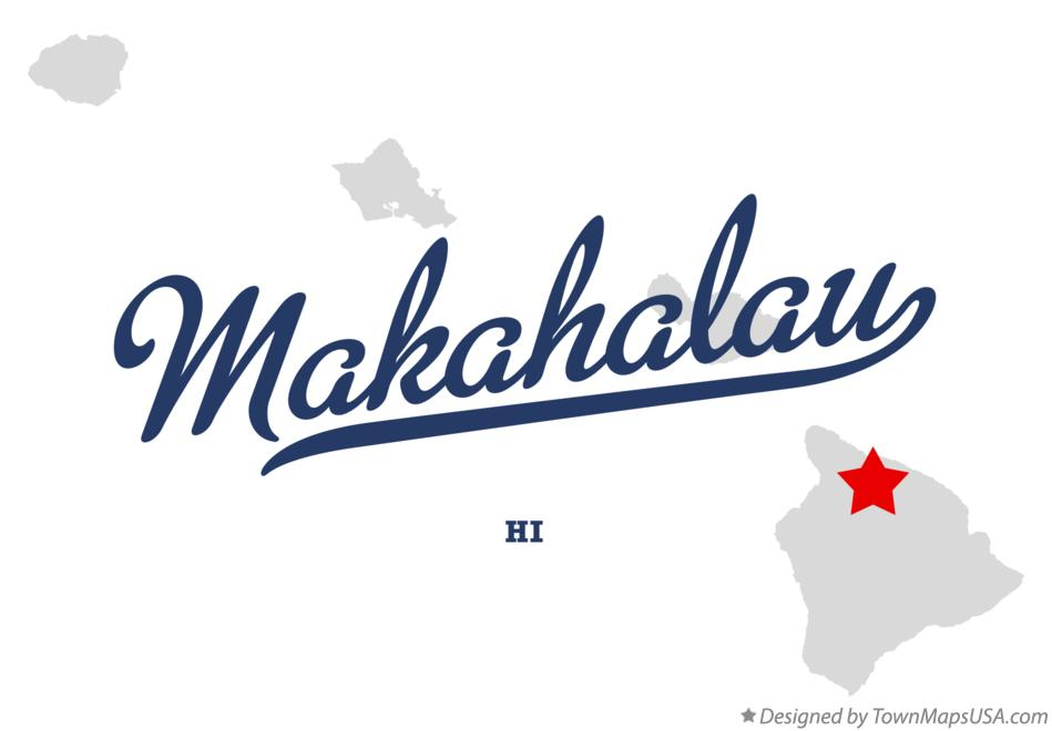 Map of Makahalau Hawaii HI