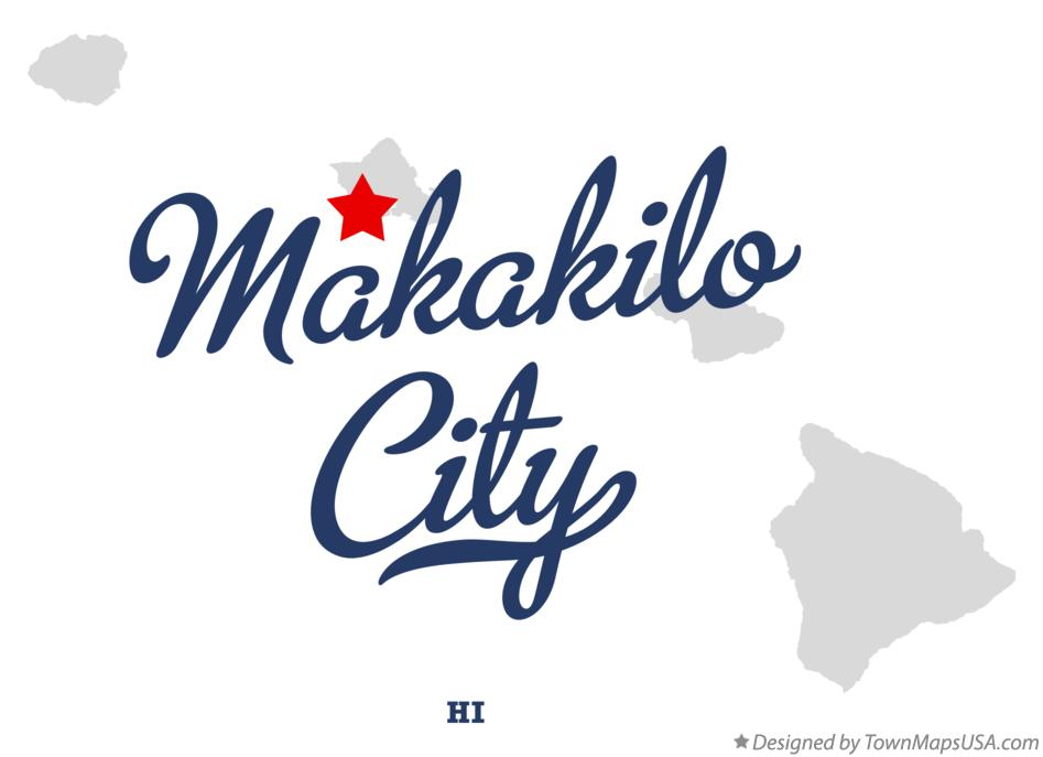 Map of Makakilo City Hawaii HI
