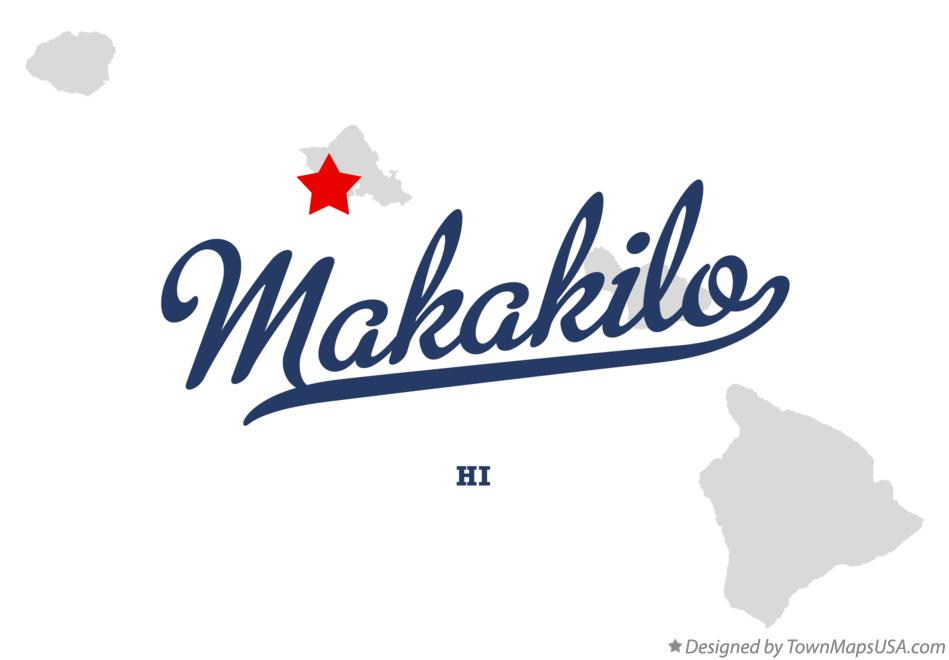 Map of Makakilo Hawaii HI
