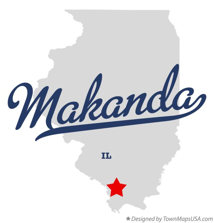 Map of Makanda Illinois IL