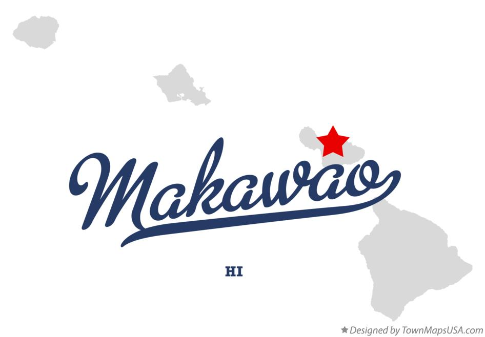 Map of Makawao Hawaii HI