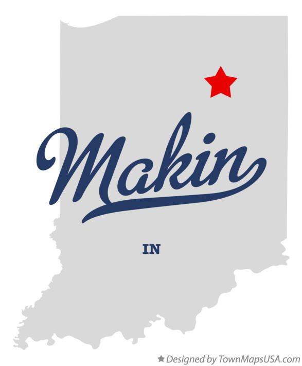Map of Makin Indiana IN