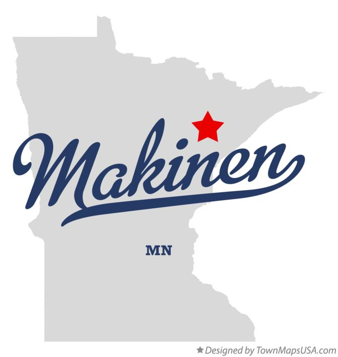 Map of Makinen Minnesota MN