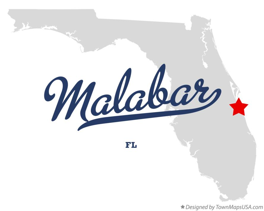Map of Malabar Florida FL