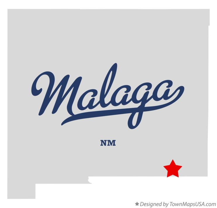 Map of Malaga New Mexico NM