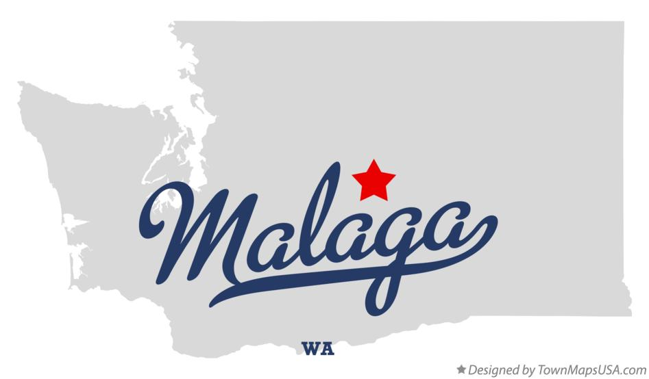 Map of Malaga Washington WA