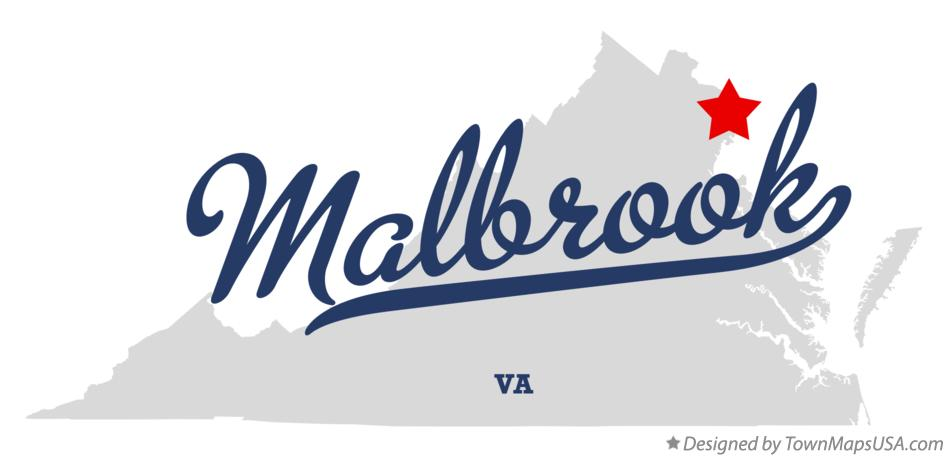 Map of Malbrook Virginia VA