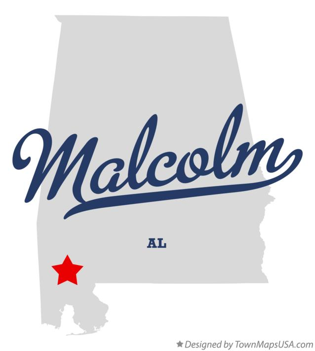 Map of Malcolm Alabama AL