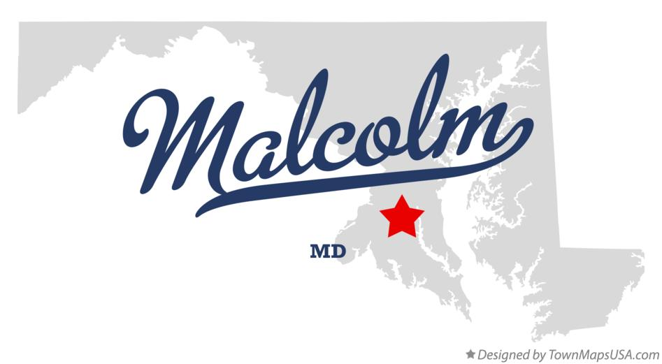 Map of Malcolm Maryland MD