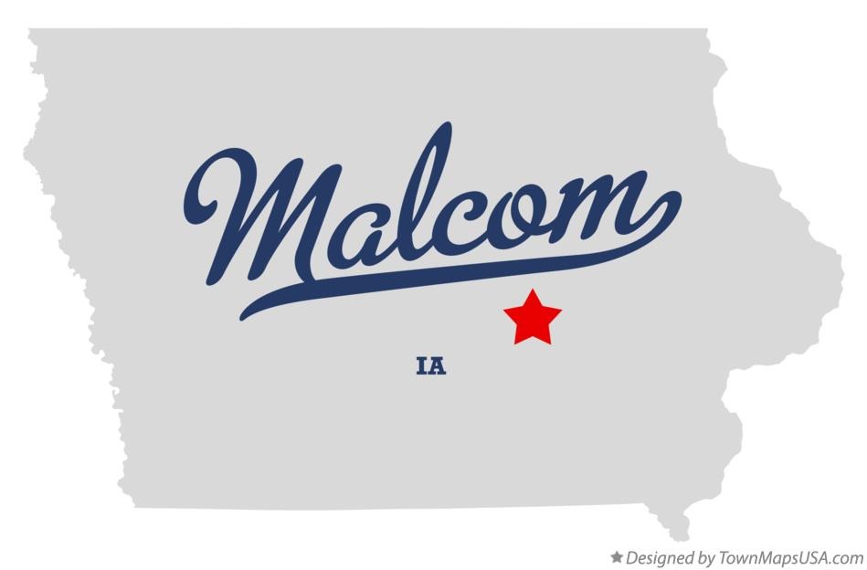 Map of Malcom Iowa IA