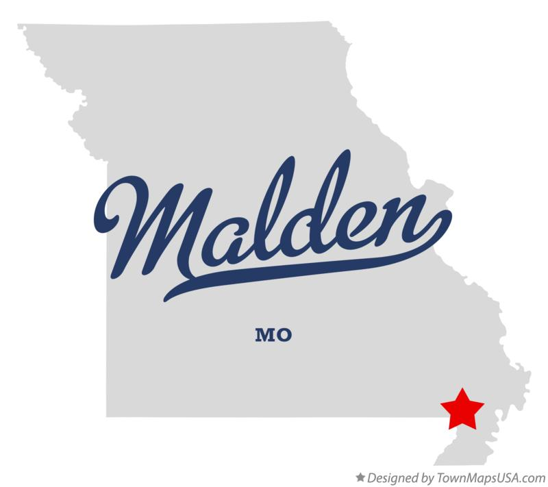 Map of Malden Missouri MO