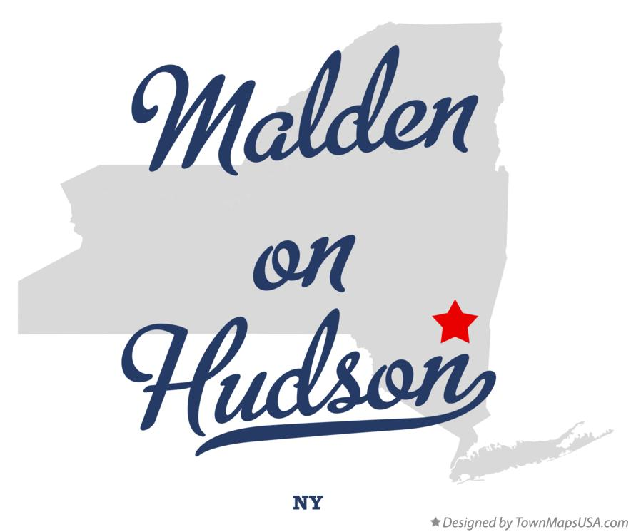 Map of Malden-on-Hudson New York NY