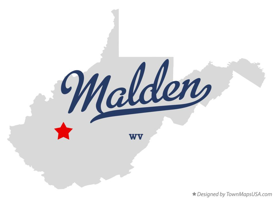 Map of Malden West Virginia WV