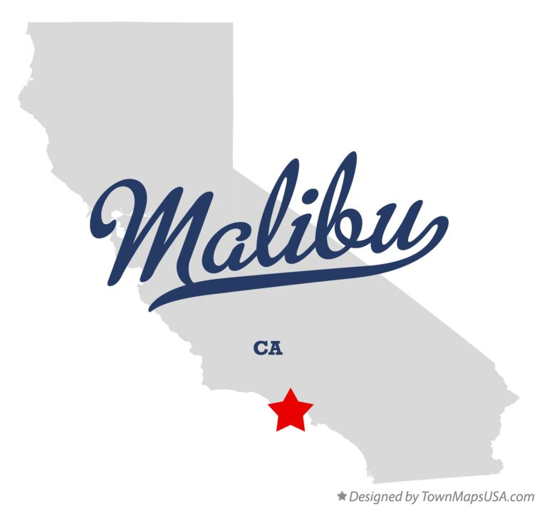 Map of Malibu California CA