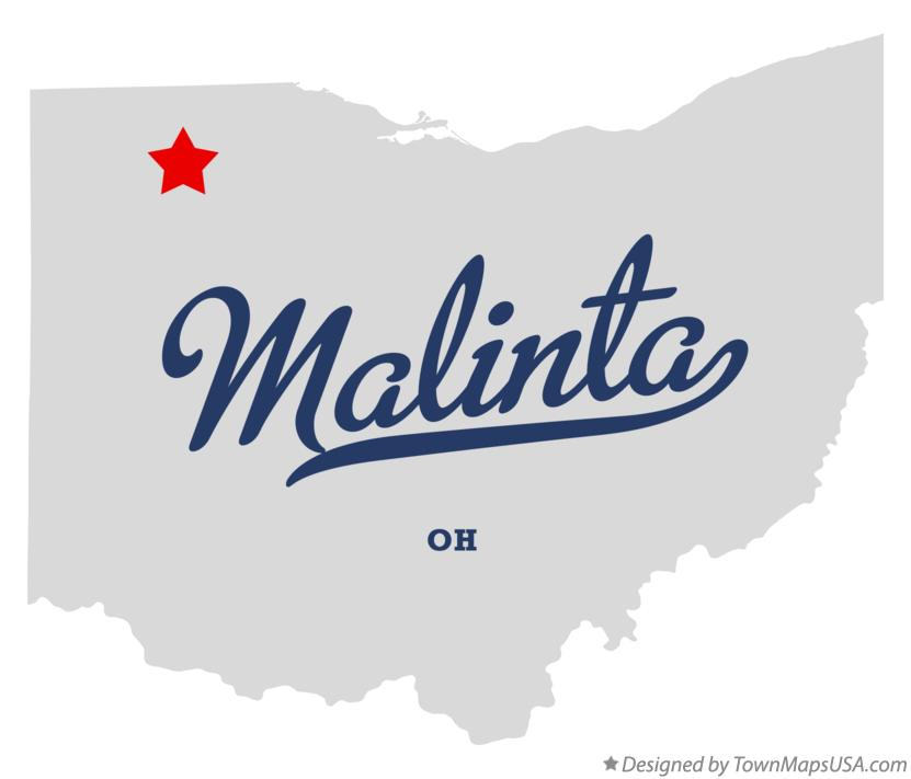Map of Malinta Ohio OH