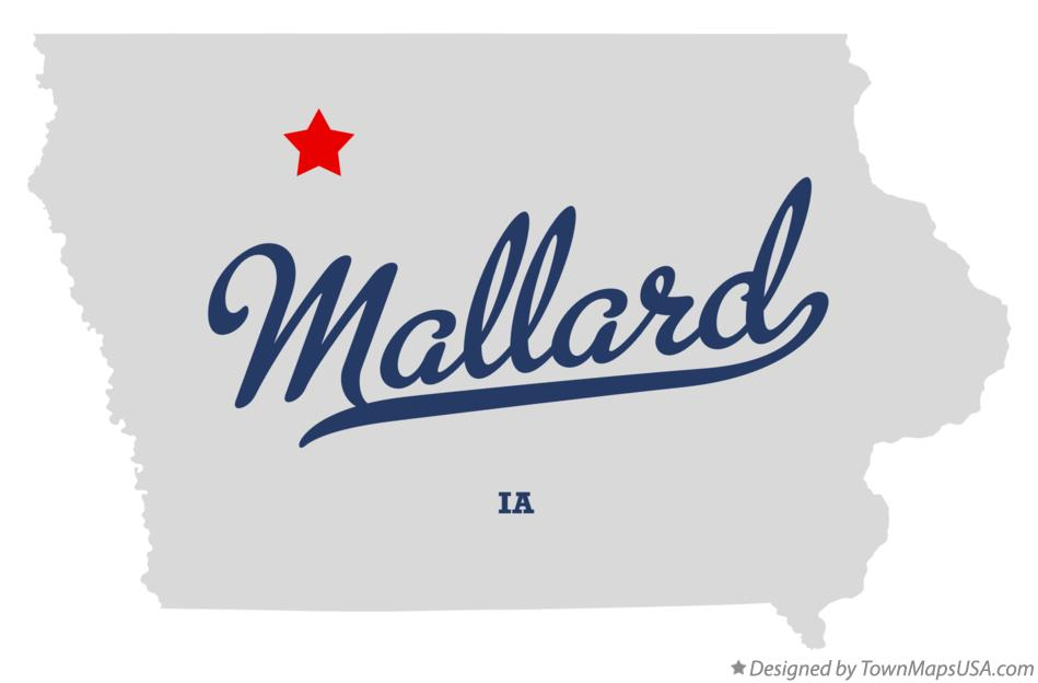 Map of Mallard Iowa IA