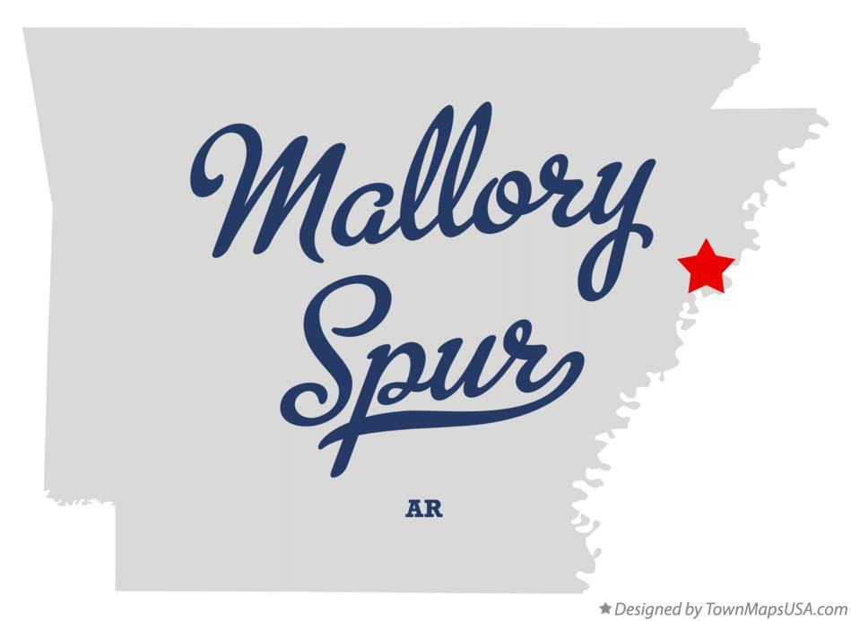 Map of Mallory Spur Arkansas AR