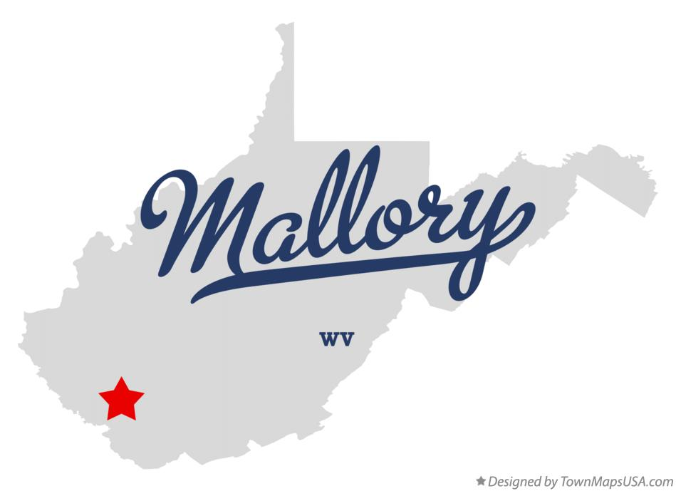 Map of Mallory West Virginia WV