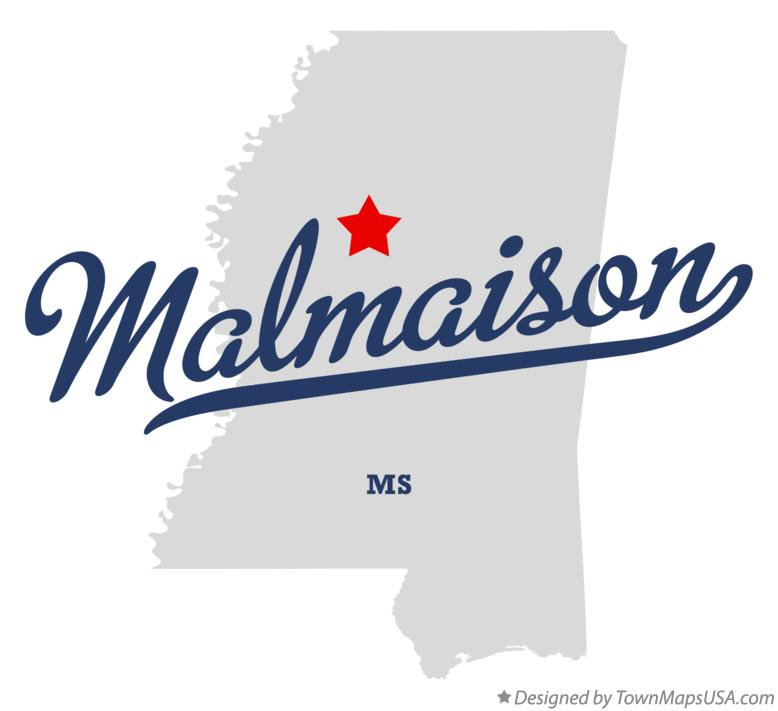 Map of Malmaison Mississippi MS