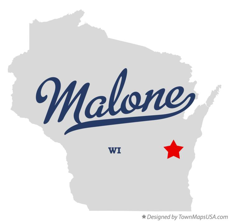 Map of Malone Wisconsin WI