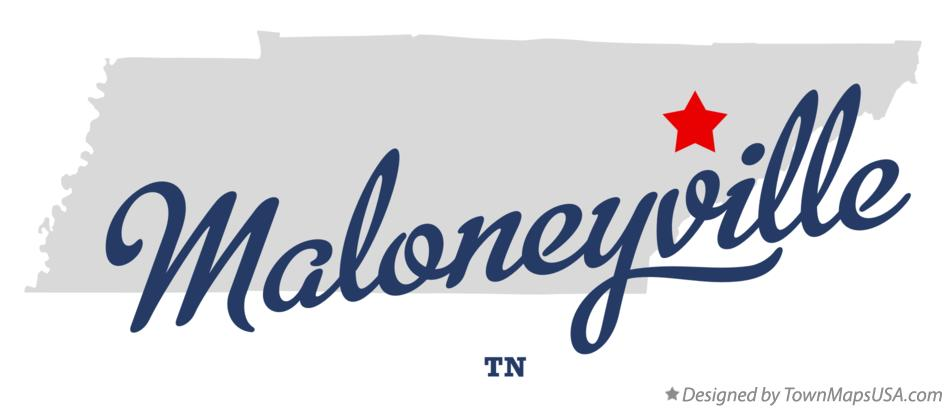 Map of Maloneyville Tennessee TN