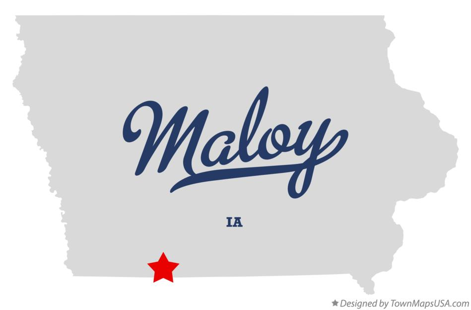 Map of Maloy Iowa IA
