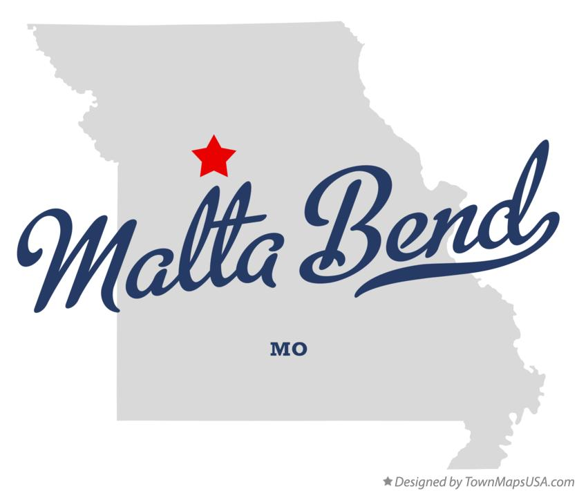 Map of Malta Bend Missouri MO