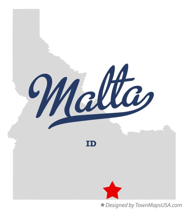 Map of Malta Idaho ID