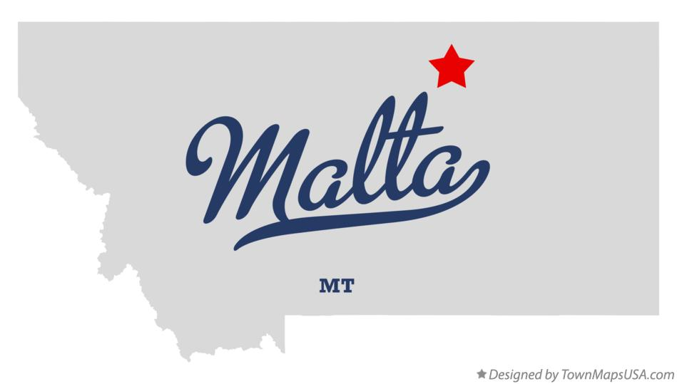 Map of Malta Montana MT