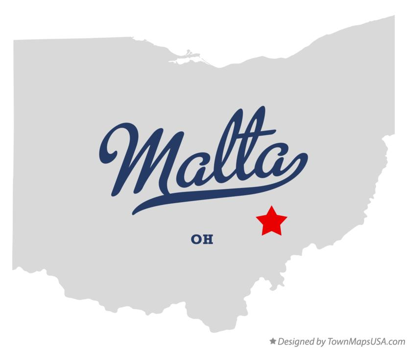 Map of Malta Ohio OH