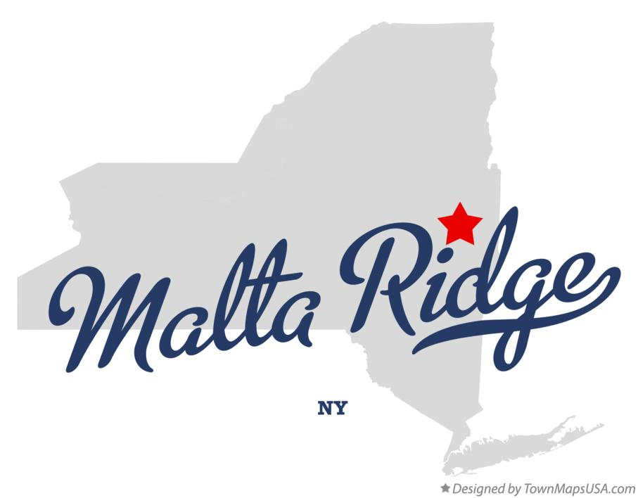 Map of Malta Ridge New York NY